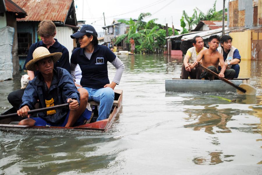 Tulvat vaivaavat Filippiinejä. Kuva: EU/ECHO, Flickr CC