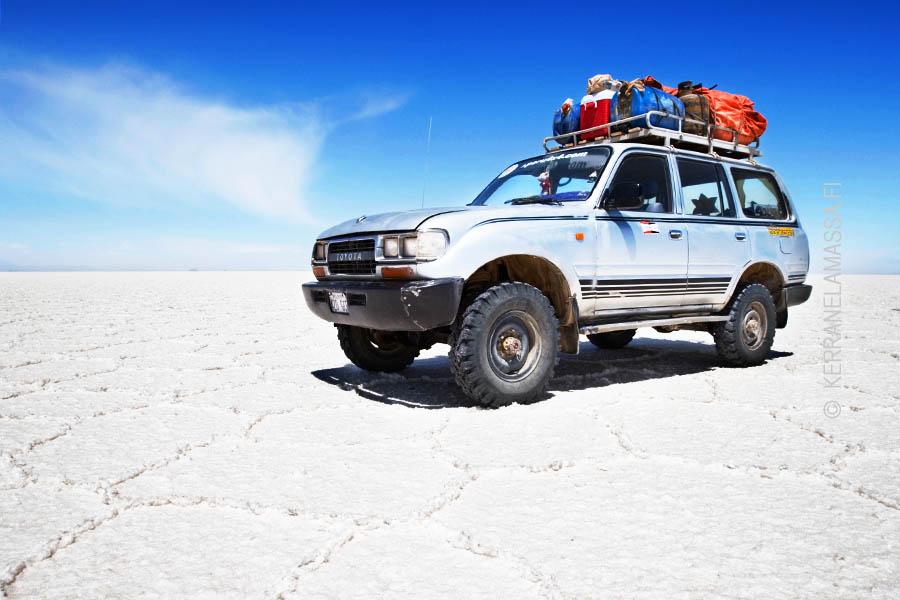 Salar de Uyunin suola-aavikko Boliviassa