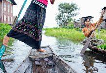 Myanmar Inle järvi