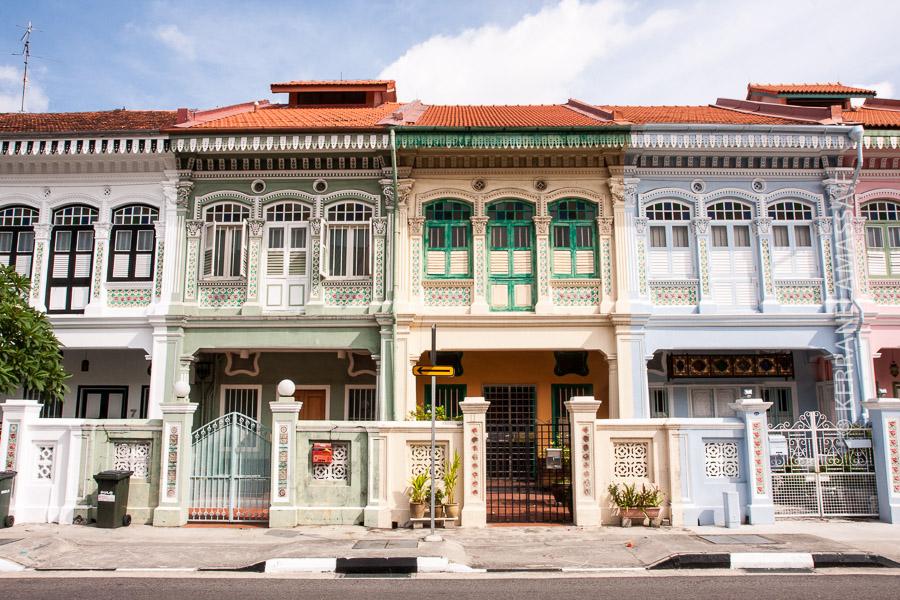 Singaporessa on säilynyt paljon upeita vanhoja kiinalaistaloja.