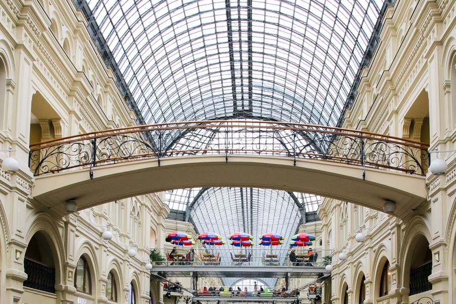 GUM on komea, historiallinen ostoskeskus. Kuva: