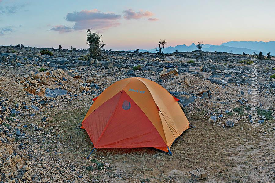 Omanissa teltan voi pystyttää mihin vaan.