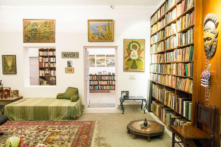 Tältä näytti Indira Gandhin koti.
