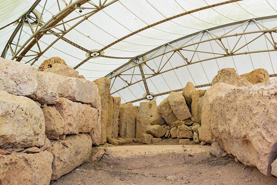 Ħaġar Qimin megaliittiset temppelit on rakennettu arviolta Ġgantija-kaudella 3600–3200 eaa. Kuva: Arna Grym.