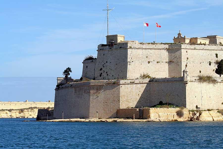 Pyhän Angelon linnoitus oli Suuren piirityksen aikaan Maltan ritarien tukikohta.