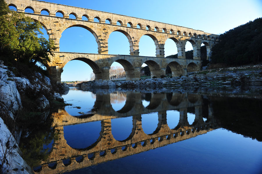 Pont du Gardin yksinkertaista, harmonista kauneutta. Kuva: Tiberio Frascari, Flickr CC