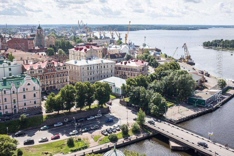 Viipuri linnan tornista nähtynä.