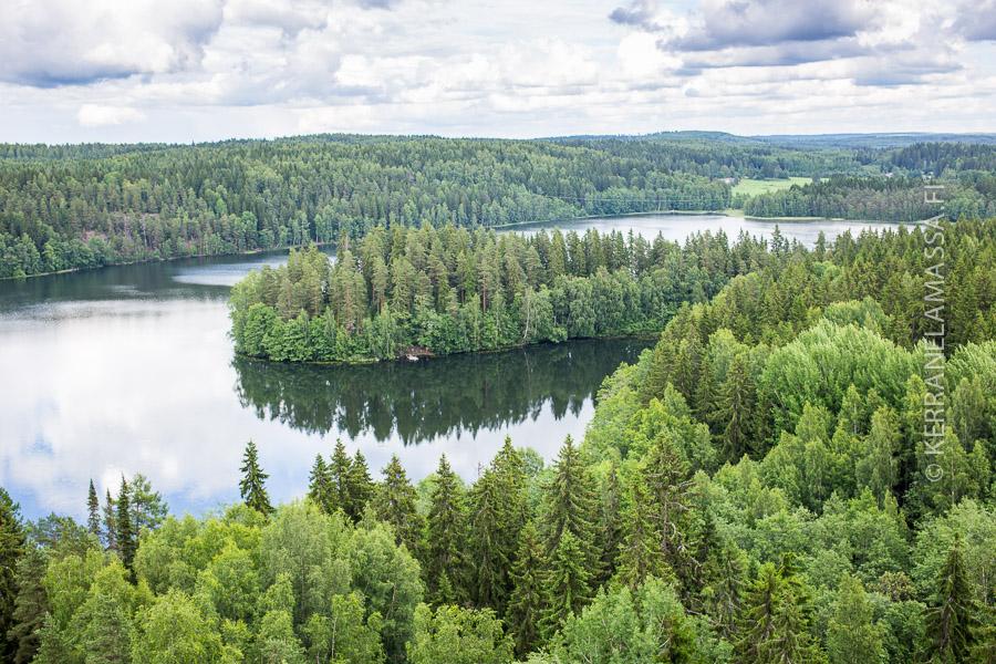 Näitä Aulangolta avautuvia hämäläisiä maisemia Sibelius mietti Finlandiaa säveltäessään.