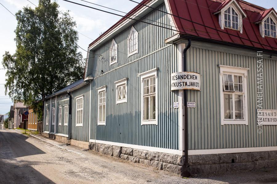 Pietarsaaren matkustajakodissa on hurmaavaa vanhan ajan tunnelmaa.