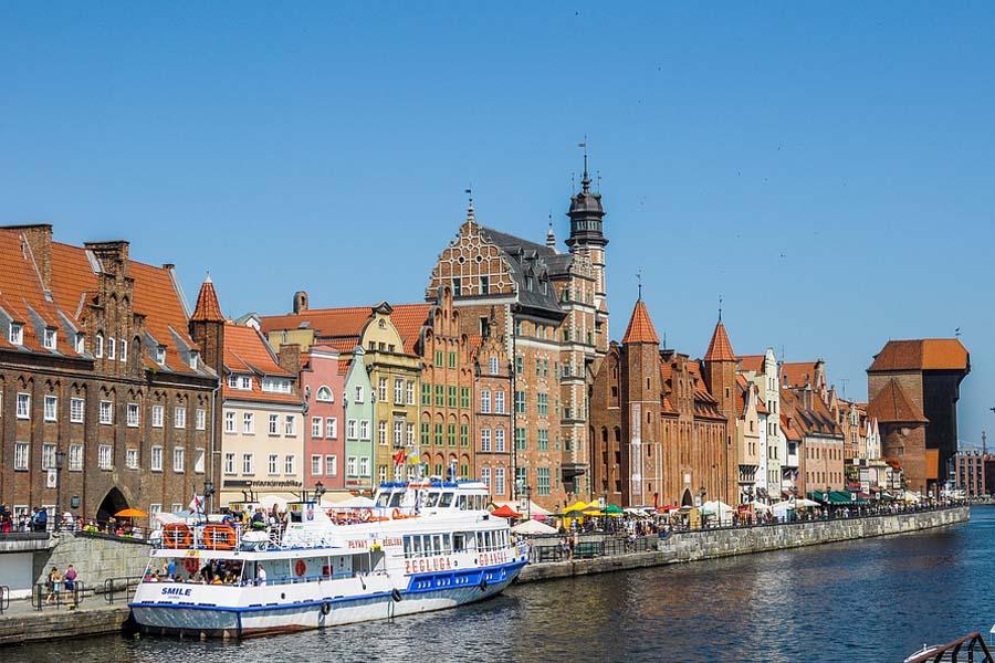 Gdansk on Puolan tunnelmallisimpia kaupunkeja.