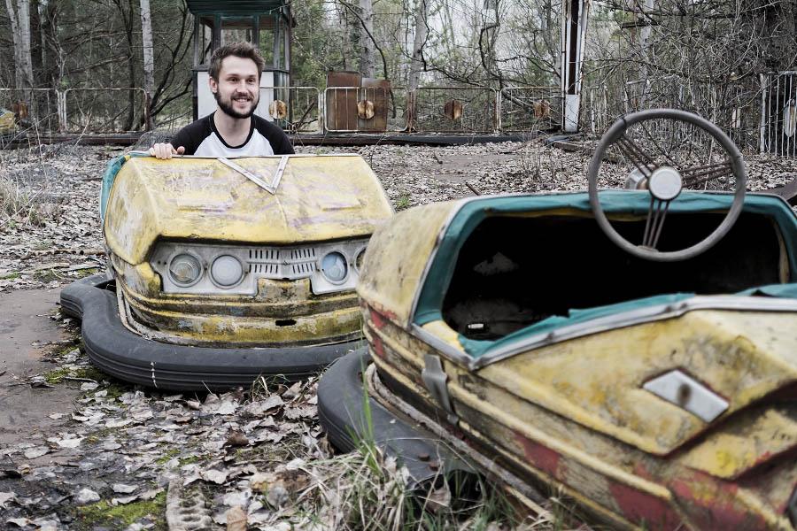 Pripjatin hyvipuiston törmäilyautoista on tullut jo ikoninen kuvauskohde.
