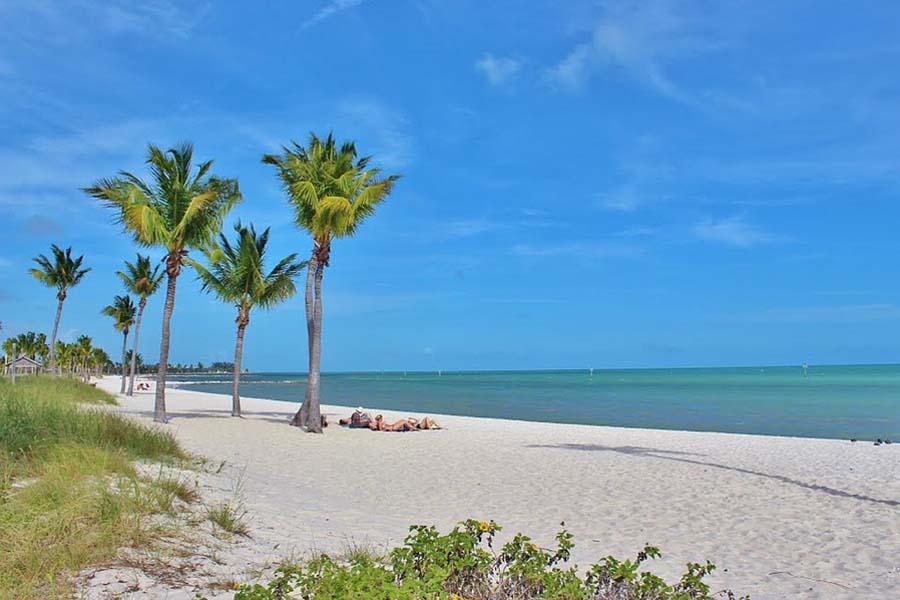 Hiekkaranta Key Westissä.