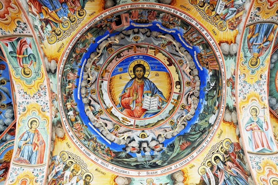 Kattomaalaus Rilan luostarissa