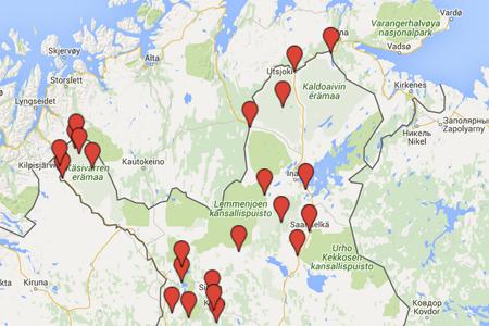 Suomen nähtävyydet kartalla – Kotimaanmatkailu – Kerran elämässä