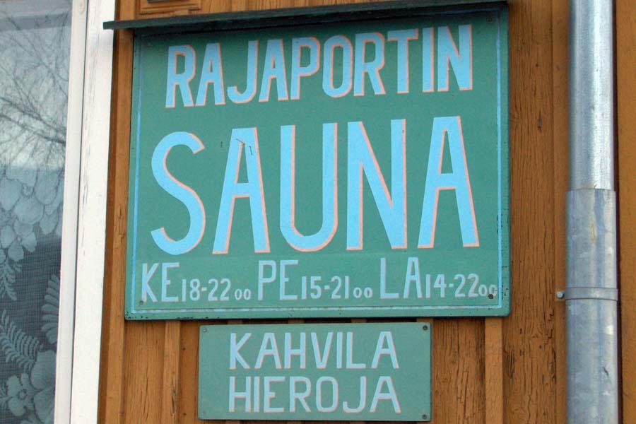 Rajaportin sauna on Suomen parhaita. Kuva: Wikimedia Commons.