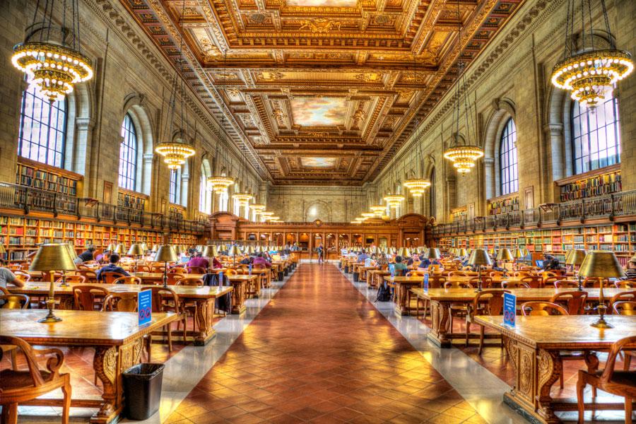 New Yorkin Public Library on aikamoinen tiedon katedraali. Kuva: Andrew E. Larsen Flickr CC