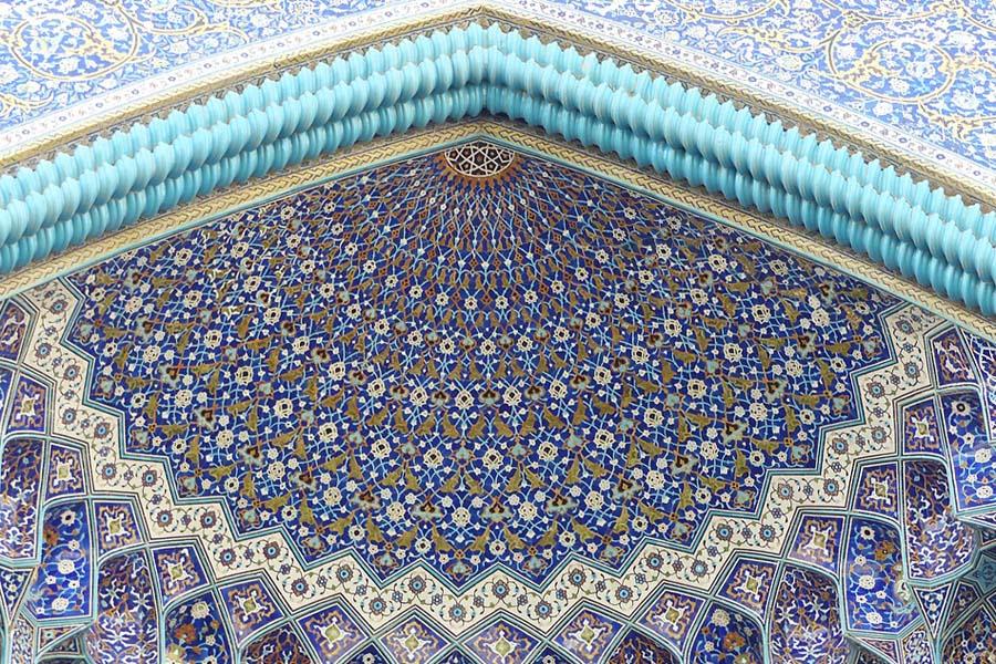 Esfahanin moskeijat on koristeltu satumaiseen, persialaiseen tyyliin.