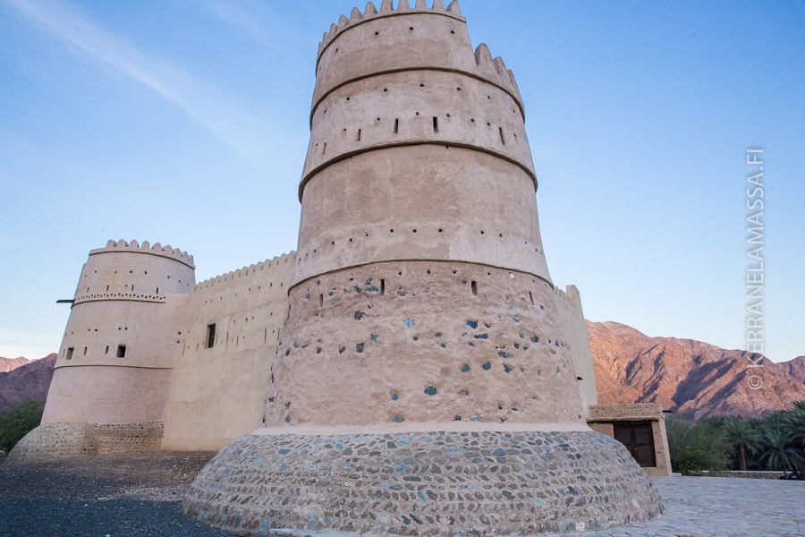 Fujairahin tunnelmallisin linnoitus Al-Bithna Fort.