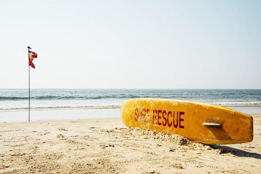 Goalla vaarallisinta ovat voimakkaat virtaukset. Älä ui kauas rannasta!