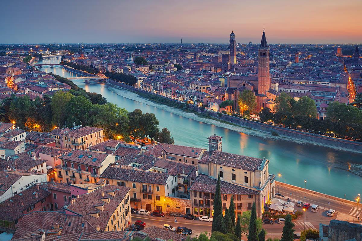 Verona Italian Matkailu Kerran Elamassa