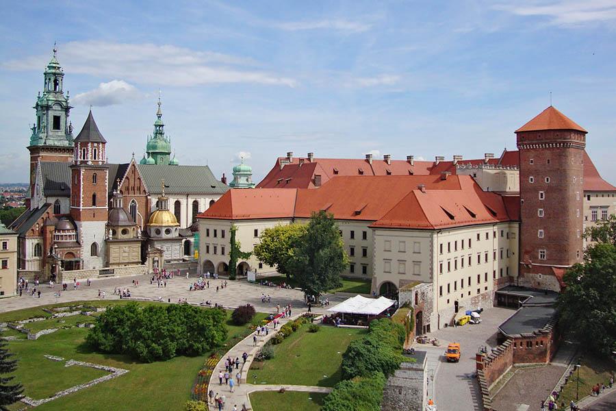 Puola Krakova Wawelin linna