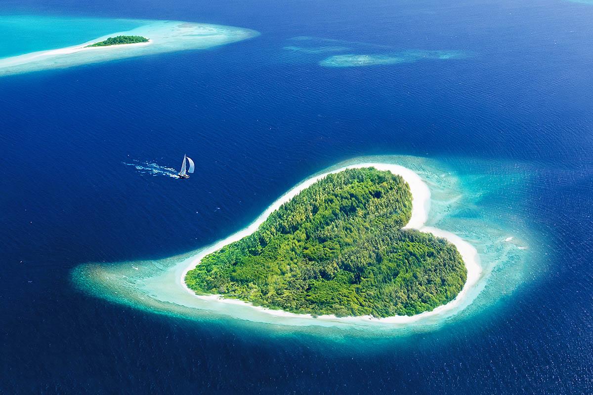 malediivit ranta saari