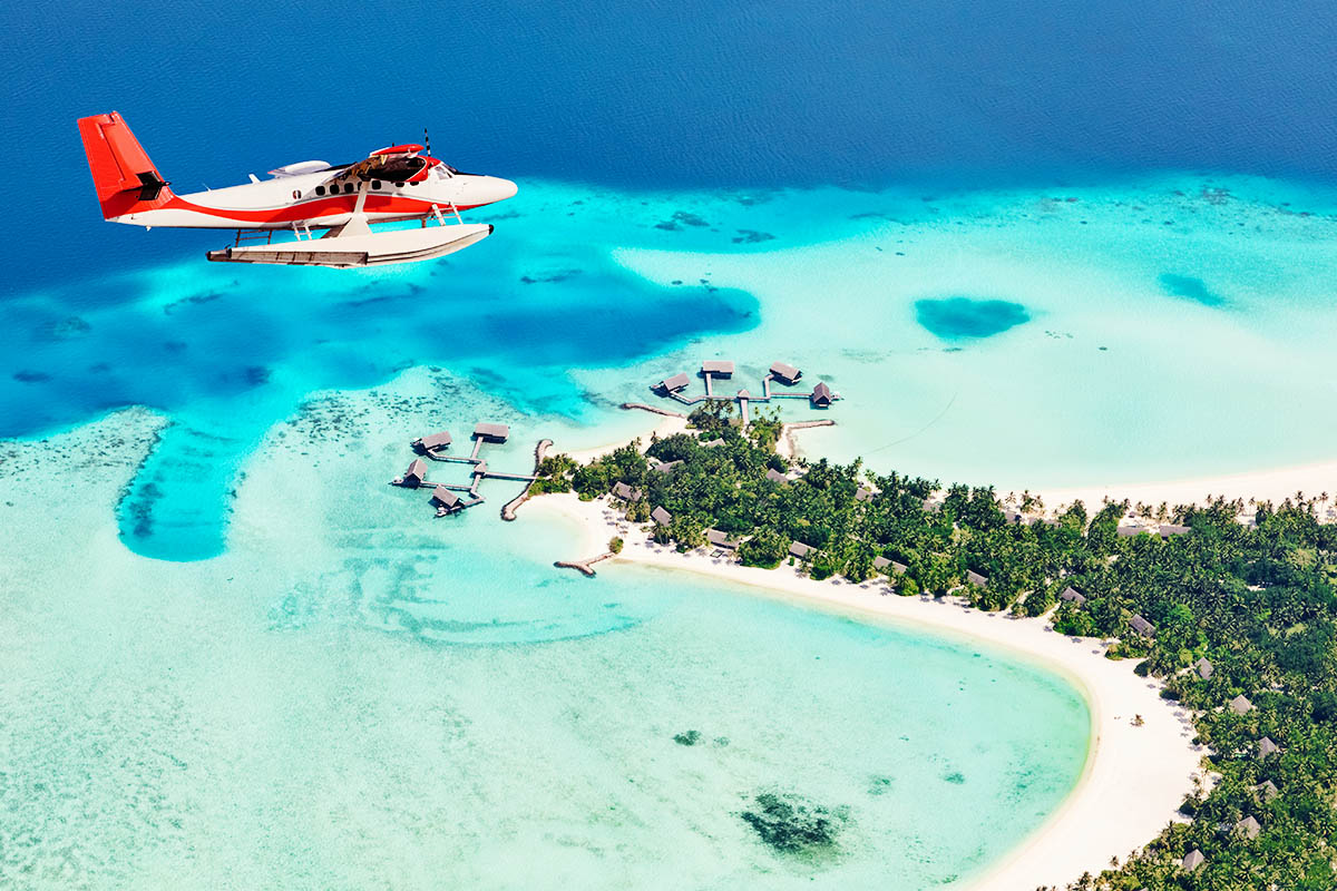 Malediivit paikallislento vesitaso