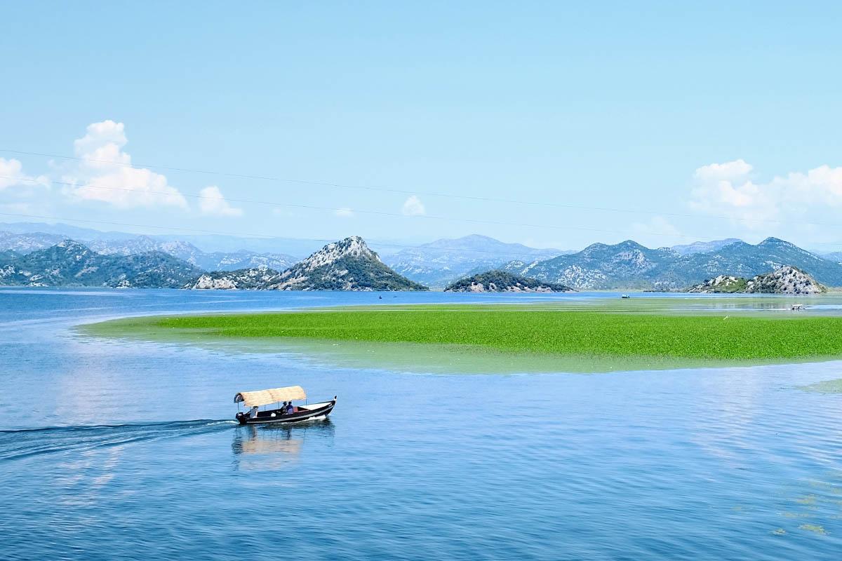 Montenegro Skadar järvi
