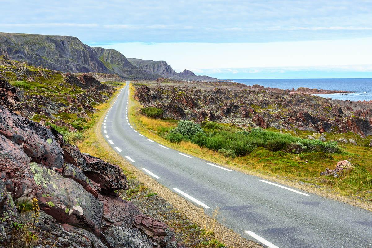 pohjois-norja maantie autoilu