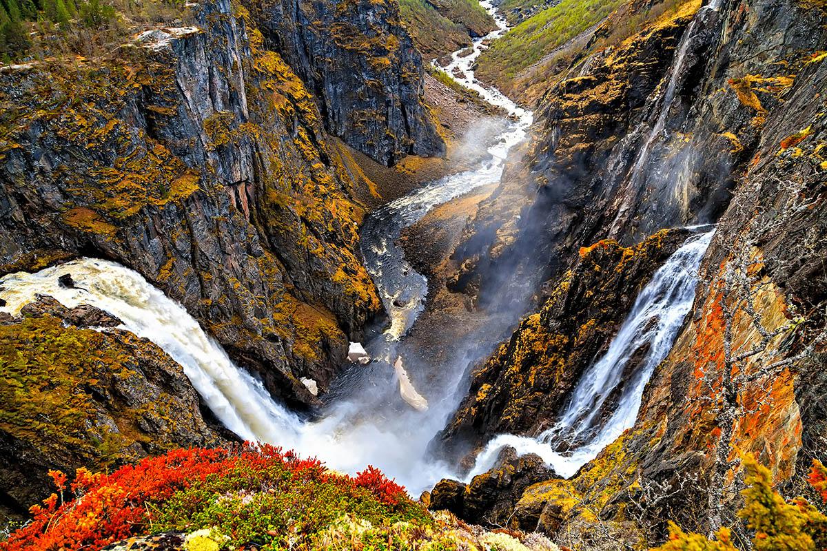 Norja Vøringfossen vesiputous