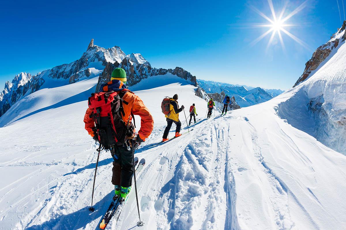 Chamonix Aguille du Midi laskettelu
