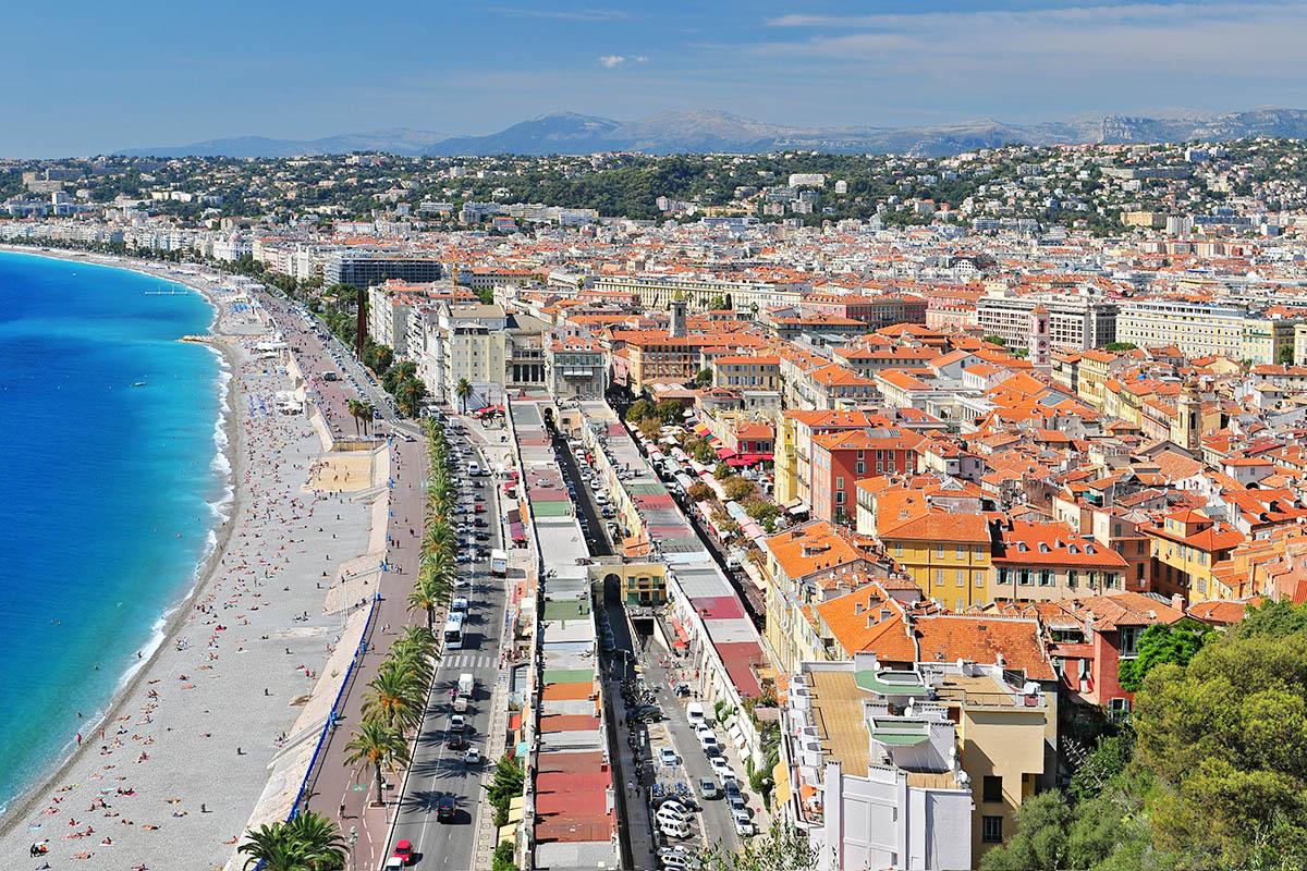Nizza Ranskan Rivieran Ihana Keskus Kerran Elamassa