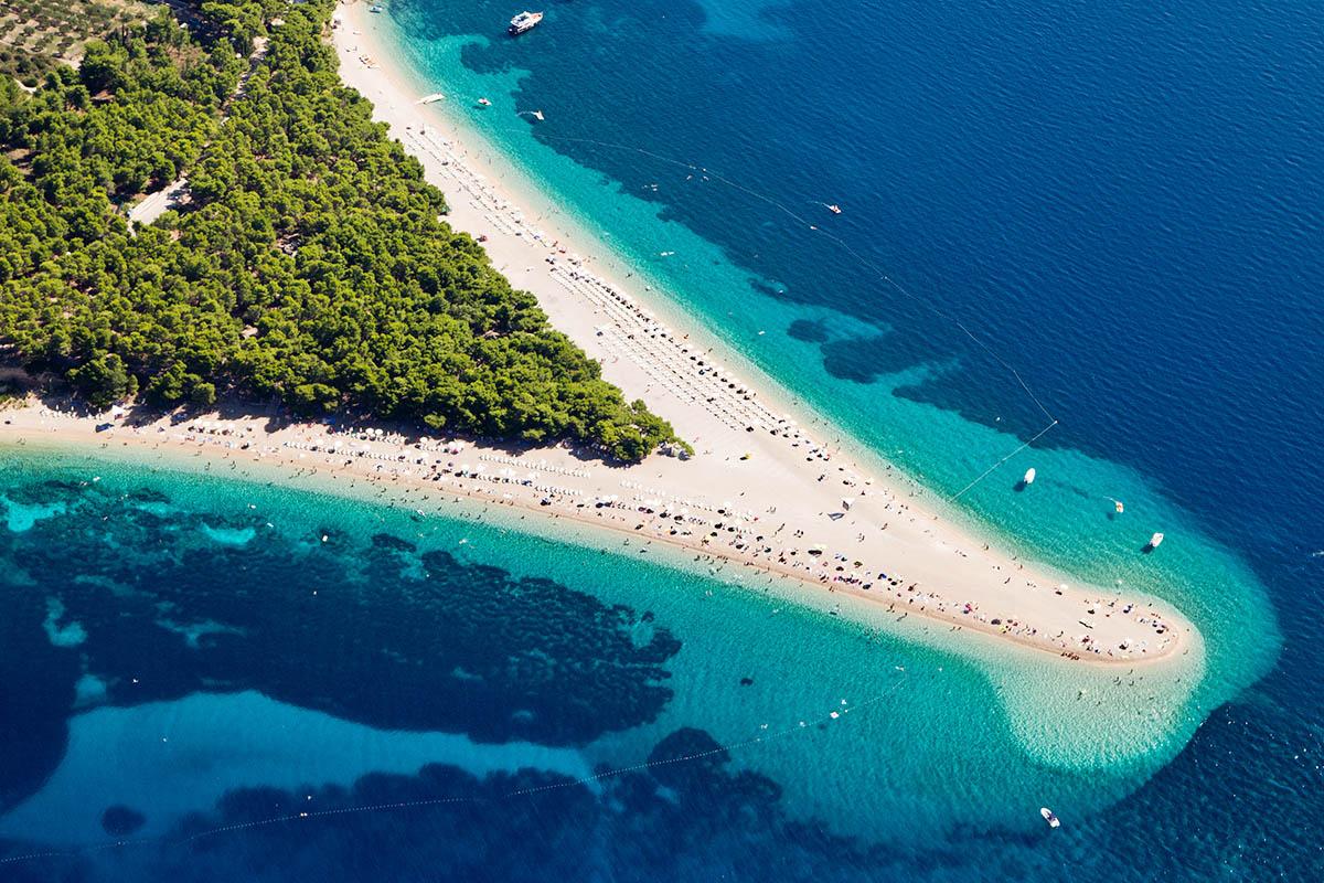 kroatia zlatni rat ranta