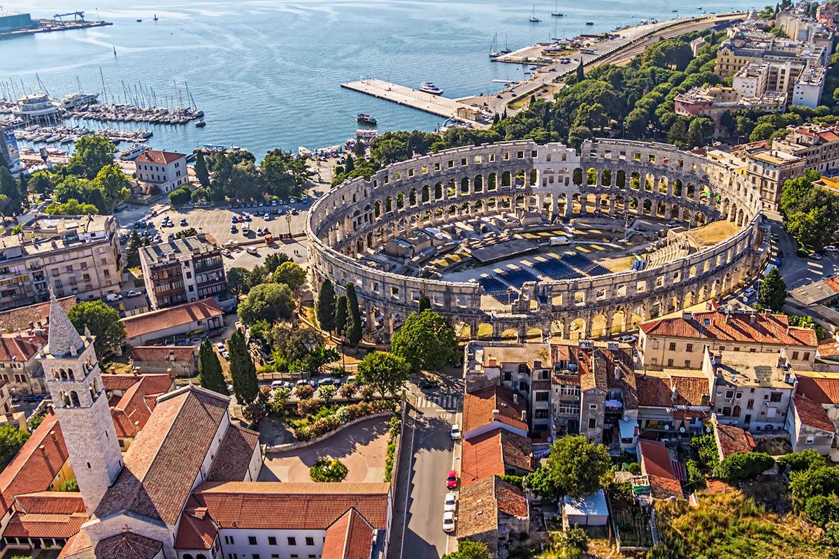 Kroatia Pula amfiteatteri