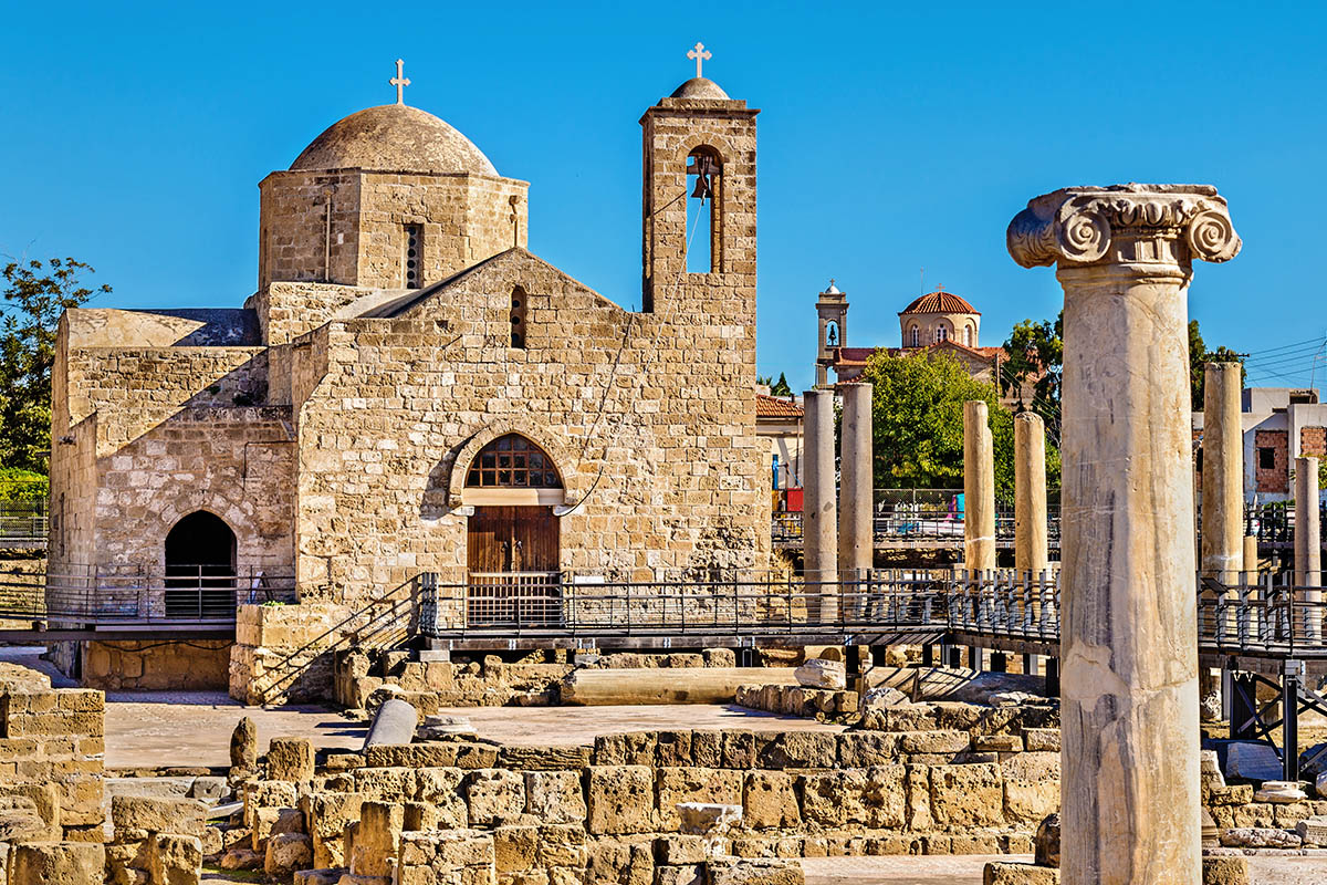 Kypros Pafos basilika
