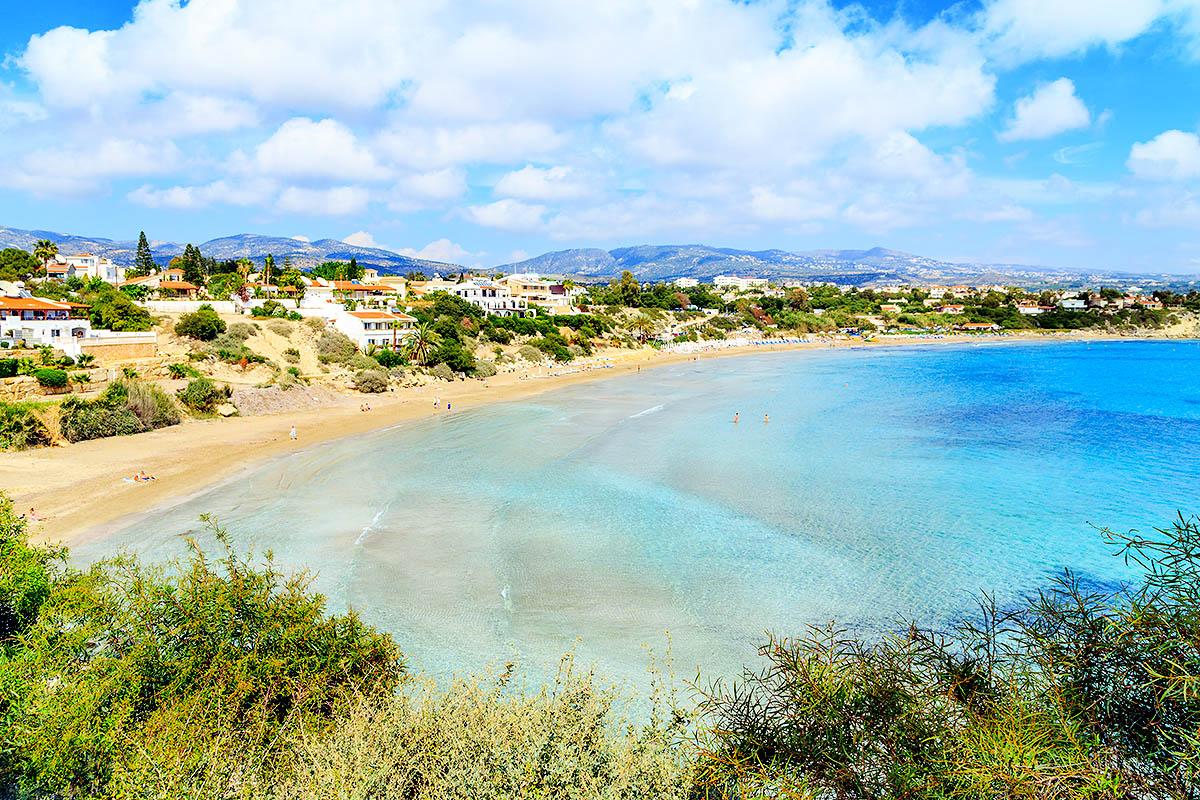 Kypros Coral Bay ranta
