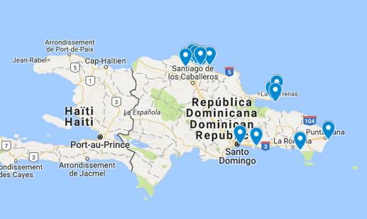 dominikaaninen tasavalta kartta