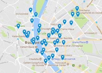Budapest kartta