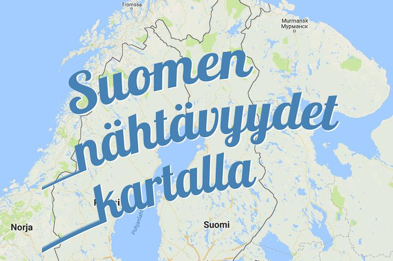 Suomen Nahtavyydet Kartalla Kotimaanmatkailu Kerran Elamassa