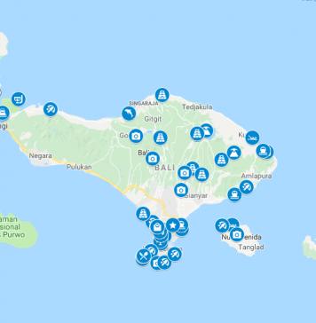 Bali kartta