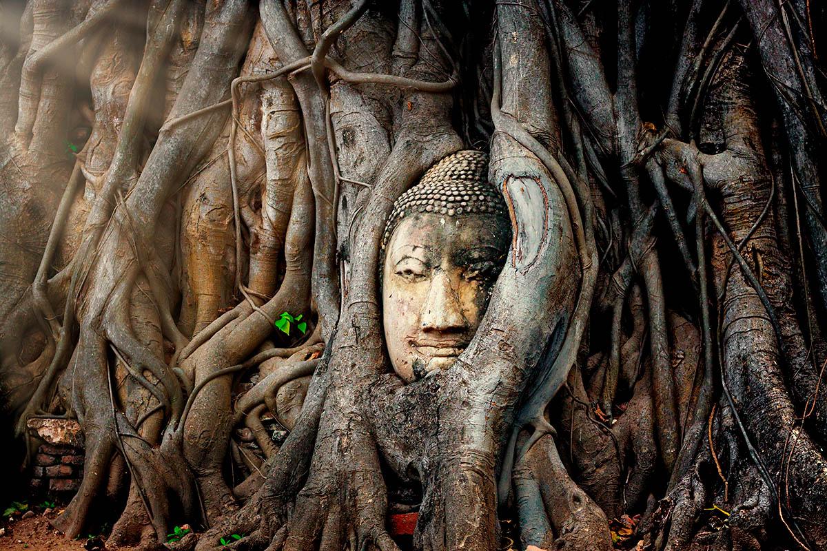 thaimaa Ayutthaya buddhalainen raunio
