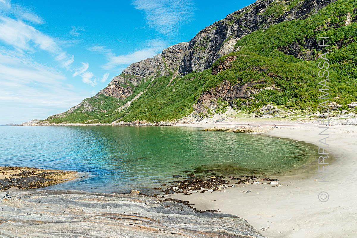 Norja Bodø Mjelle ranta