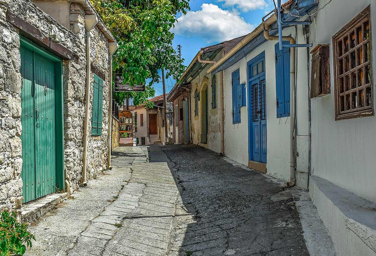 Omodos kylä Kypros