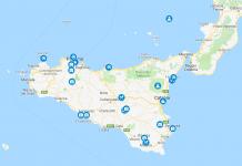 Sisilian kohteet ja nähtävyydet kartalla