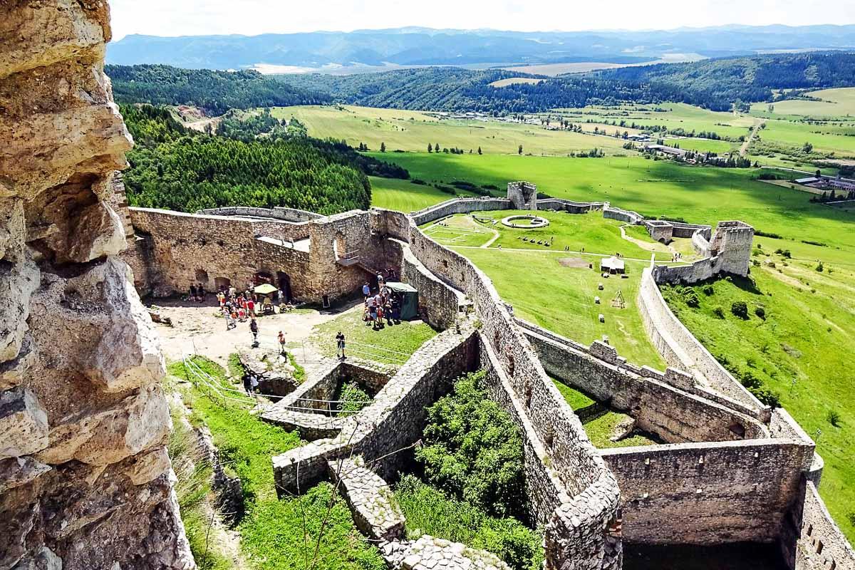 Slovakian nähtävyydet Spišin linna