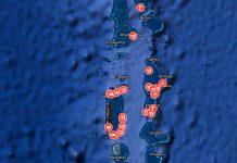 Malediivit kartta