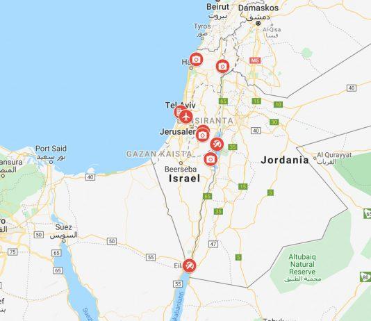 Israelin kartta