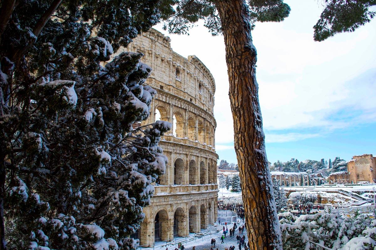 Colosseum talvella