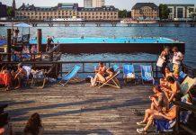 Berliini kesä uima-allas