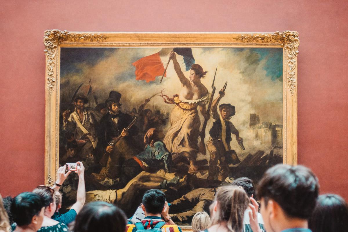 Vapaus johtaa kansaa Louvre